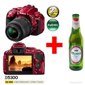 Câmera Digital Nikon D5300 24.2mp+ Cerveja Brinde