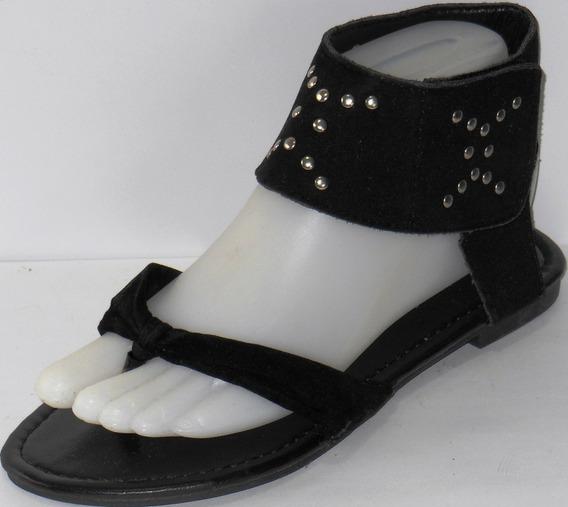 Sandalias Para Mujer Tacón Bajo Semi Cuero Antiresbalantes