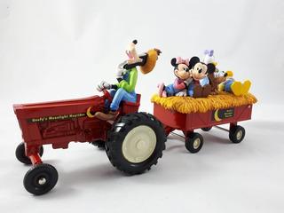 Trator Com Carreta Pateta Mickey Donald Minnie Disney Ertl