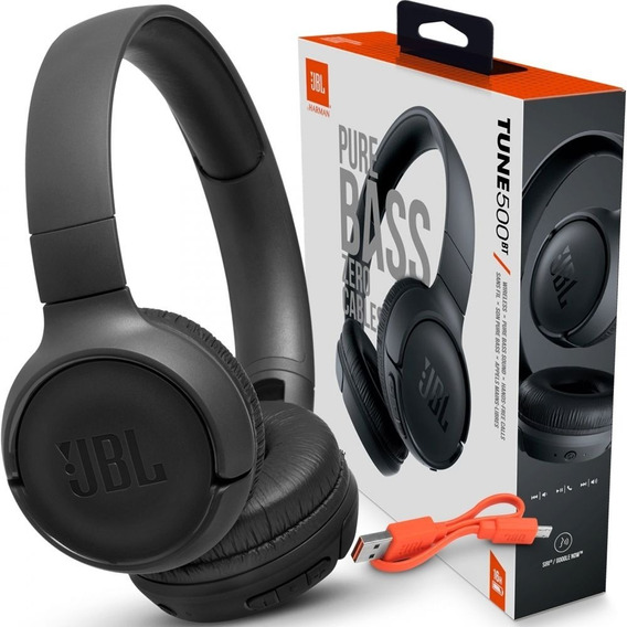 Fone De Ouvido Jbl T500bt Preto Bluetooth- Frete Gratis