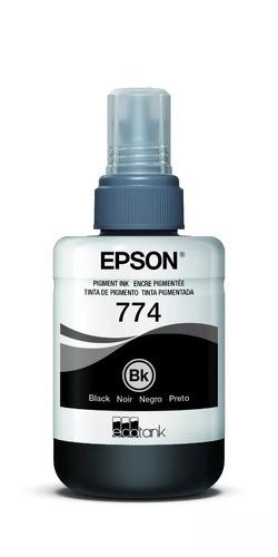Botella Tinta Epson T774 Original Negro 140 Ml T774120