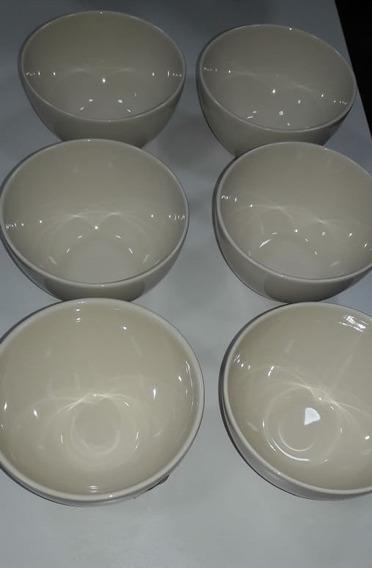 Conjunto 6 Bowls Liso Cru Porto Brasil Cozinha Comida