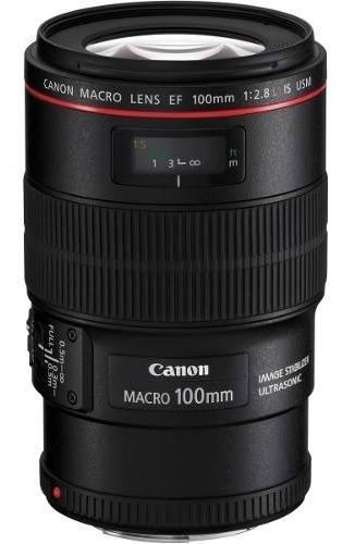 Lente Canon Ef 100mm F/2.8 Macro Is Usm - Garantia + Nf