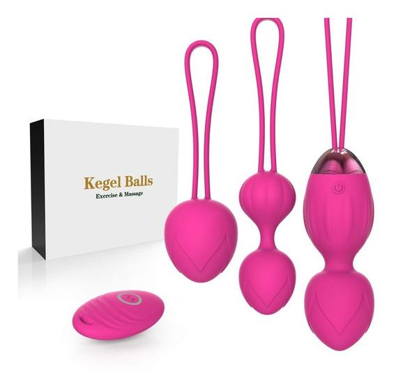 4 Kit De Kegel Ejercicio Como Bolas Chinas Inalambrico Peach