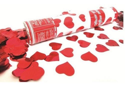 5 Lança Confete Coração Vermelho