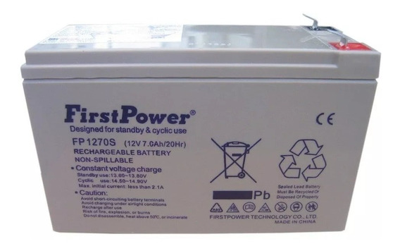 Bateria First Power Selada 12 Volts 7amperes