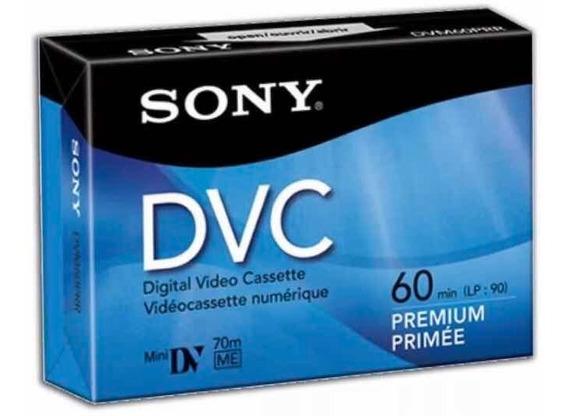 Fita Mini Dv - 5 Unds. - Sony Dvc Premium - Lacrada Original