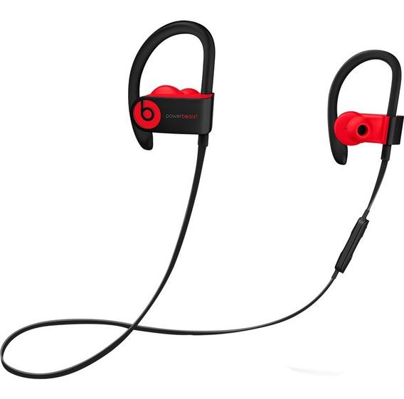 Fone Powerbeats 3 Wireless - Preto Com Vermelho Original