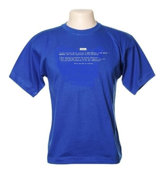 Camiseta Erro Fatal Do Windows - Wimza