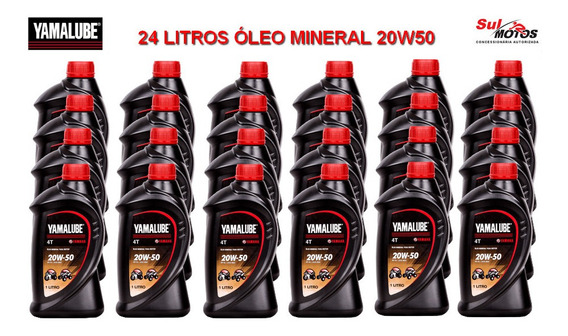 Caixa 24 Litros Óleo Yamalube Yamaha Mineral 4t 20w50 L