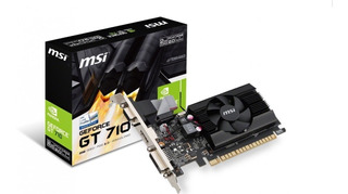 Tarjeta Video Msi Geforce Gt 710 2gb Ddr3 Hdmi Dvi Nvidia