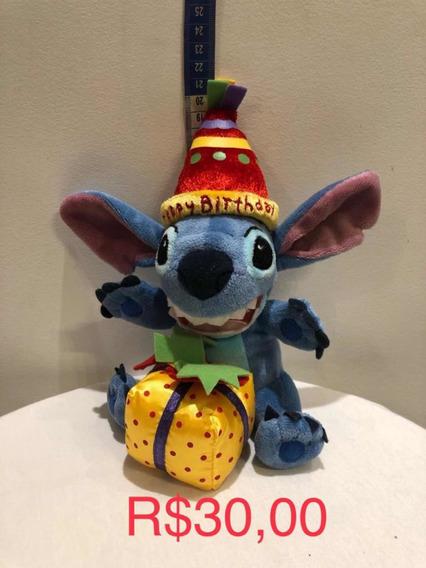 Mini Pelúcia Stitch happy Birthday
