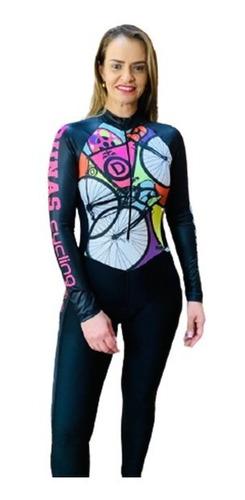 Imagem 1 de 8 de Macacão Ciclismo Feminino Mosaic M L   Original