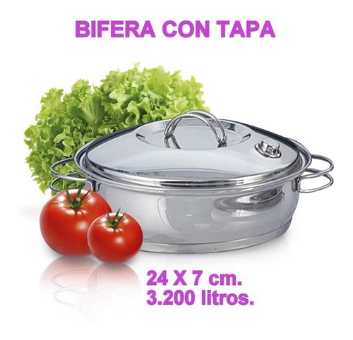 Vibra Bifera Sartén Tapa Cód: 7150  24 X 7 Cm. 3,200 Litros.