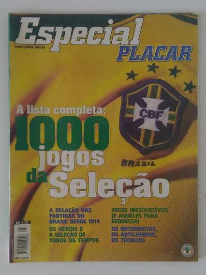 Revista Placar Especial - Guia 1000 Jogos Da Seleção