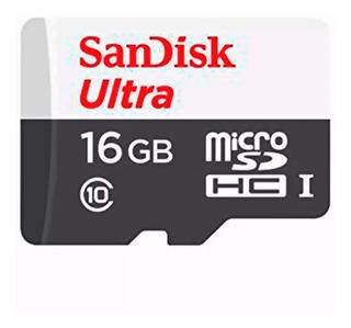 Memoria Ultra Micro Sd Sandisk + Clase 10 + 16gb