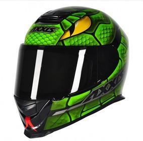 Capacete Axxis Eagle Snake Preto/verde