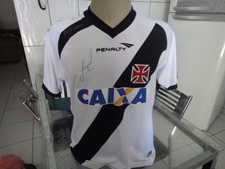 Camisa Do Vasco Usada E Autografada Pelo Juninho