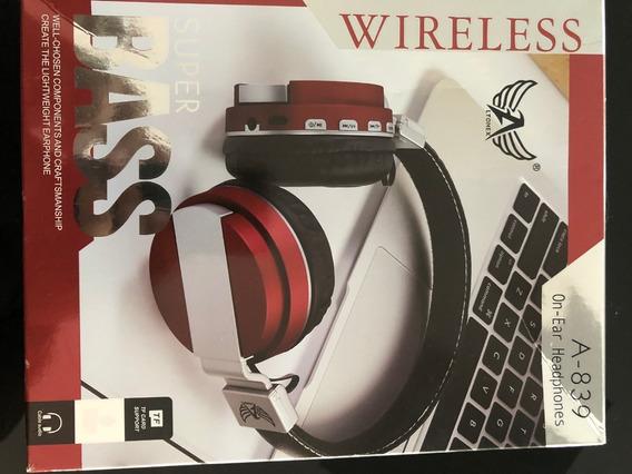Fones De Ouvido Altomex A-839 Bluetooth Fm Microsd P2