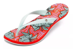 Sandália Kenner Lips Ibiza Shake Flower - Coral - Original