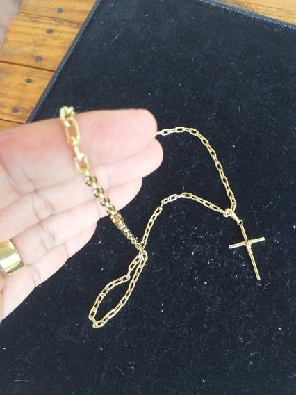 Cordão Cadeado 70cm + Pingente Em Moedas Antigas
