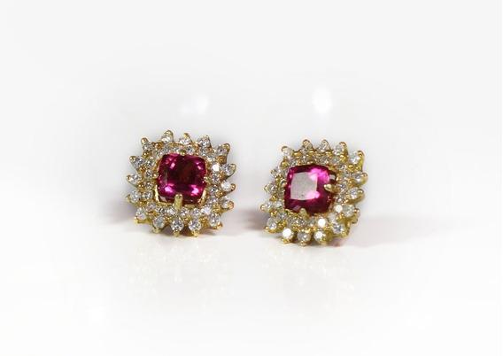Brincos Pink Tourmaline Diamond