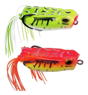 2 Iscas Albatroz Fishing Pop Frog Xy-40 6cm 14g Popper Frog