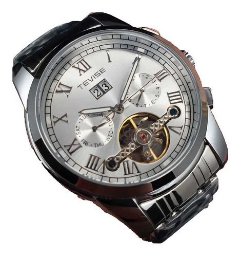 Reloj Tevise Tv9005a Caballero 100% Original Pulsera Acero