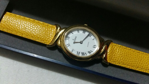 Lindo Relógio De Pulso Festina,pulseira De Couro, Fem,cx Aço