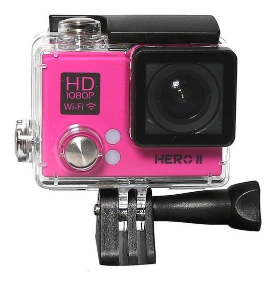 Camera Goal Pro Hero Ii Sports Wifi Rosa Original