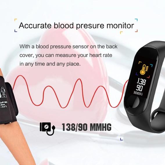Relógio Black Inteligente Pressão Frequência Cardíaca