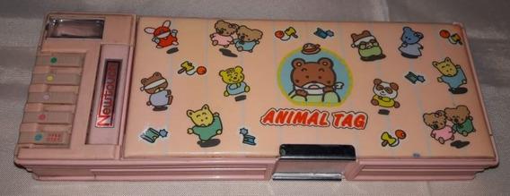Estojo Animal Tag Newtouch Reimei Botões Funcionando Anos80