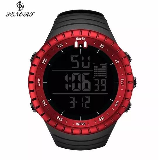 Relógio Senors - Esportivo - Cor Vermelha