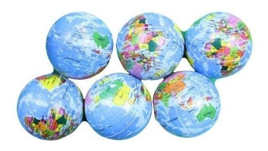 Esfera De 4 Pulgadas Estrés Globo De Tierra Bolas Lote De 6