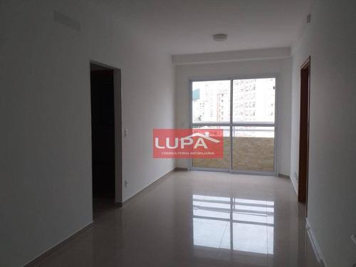 Imagem 1 de 16 de Apartamento Com 2 Dormitórios Para Alugar, 59 M² Por R$ 3.200,00/mês - Gonzaga - Santos/sp - Ap2151