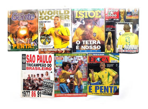 Kit De 7 Revistas De Esportes Marcas Variadas Futebol B6055