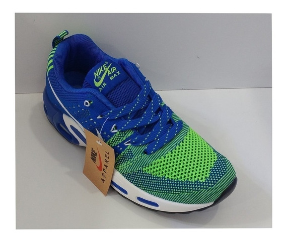 Zpt Nike Air Max Apparel. Tallas 40-44. Azul Con Verde