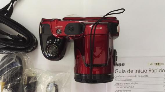 Nikon L820 Coolpix Zoom 30x Semi Prof./ Vermelha