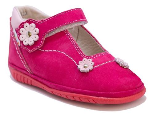 Zapatos De Niñas En Cuero Fucsia Mod. 247