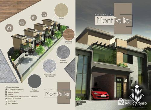 Casa Condomínio  Residencial Mont Pellier Bairro Morumbi -poços De Caldas Mg. - Ca0004