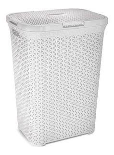 Canasto Cesto De Ropa Sucia Plástico Ratan X1 - Colombraro