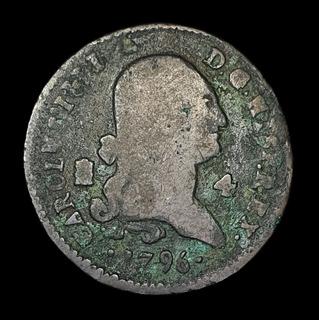 Ch C / España, 4 Maravedis 1796 Km7427 Carlos I V Segovia