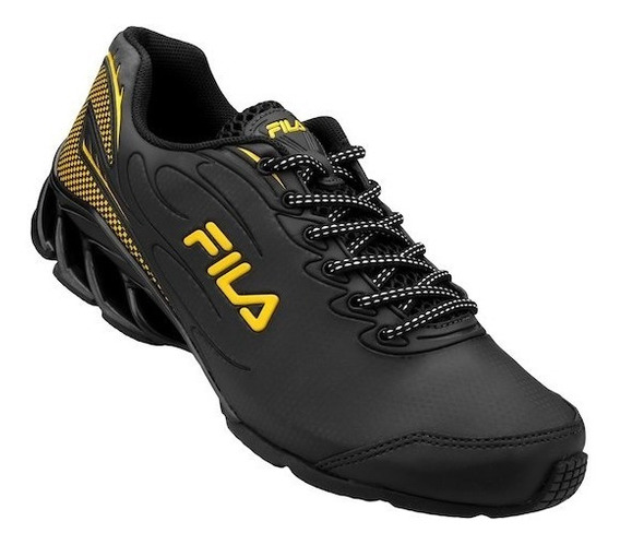 Tenis Fila Cage 130r Black/yellow