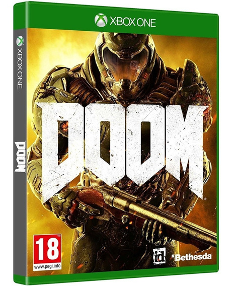 Game Doom Xbox One Midia Fisica Cd Lacrado Português Barato
