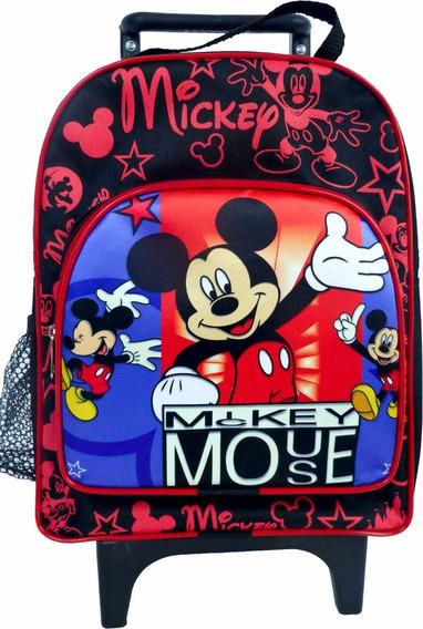 Mochila Pequena Carrinho Rodinha Mickey