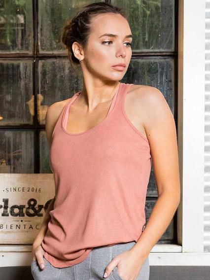 Remera Musculosa Verano Mujer Viscosa Okey Modelo 27308