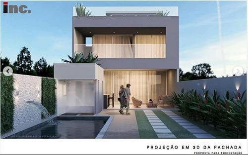 Imagem 1 de 10 de Condomínio Rio Mar (barra) - Maravilhosa Casa Triplex Com 4 Suítes E 300 M² Construídos. - Riomar Ixq - 69196511
