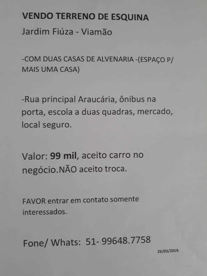 Terreno Em Viamão, Com 2 Casas No Pátio.