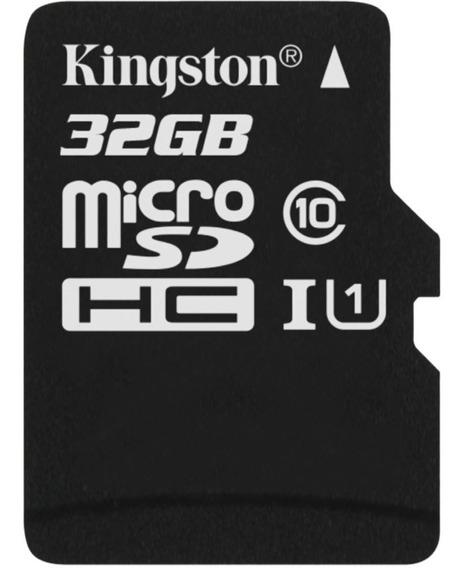 Cartão De Memoria 32gb Micro Sd Classe 10 Vel 80mbs Kingston