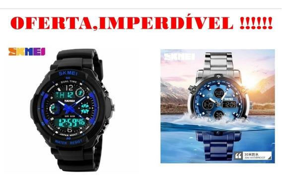 Oferta 2 Relógios Skmey Novos. Correia De Aço/silicone